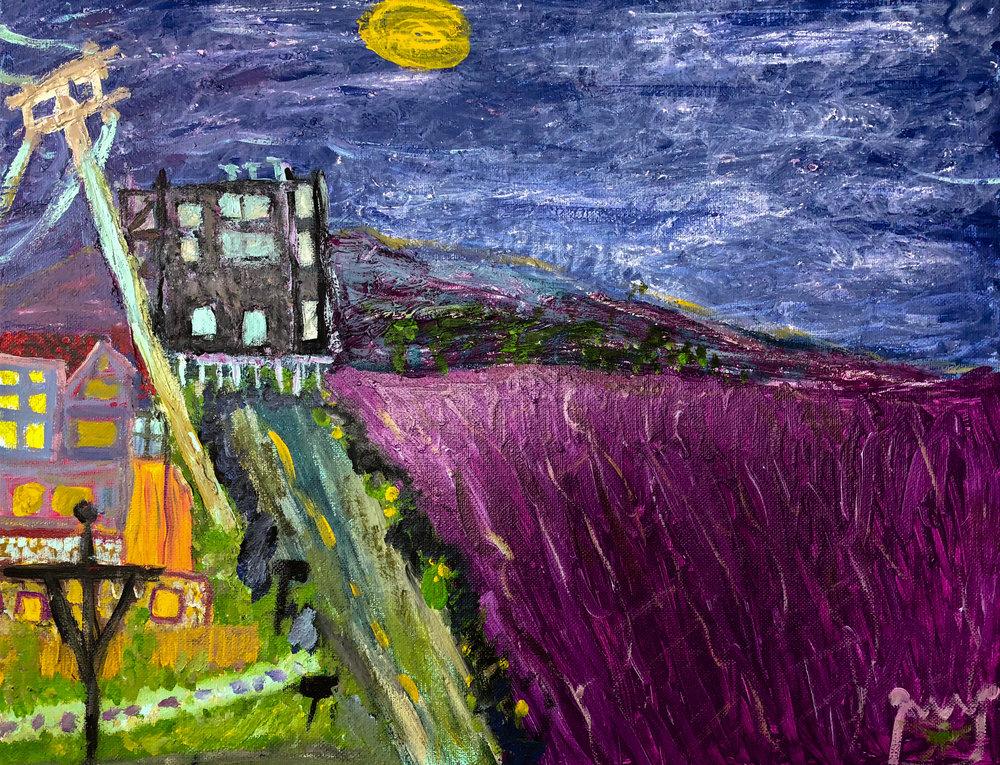 Half Moon Bay Sunset - Purple