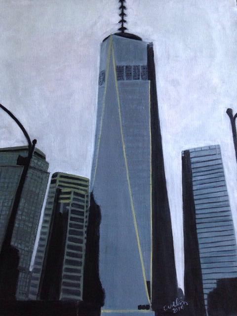 """Ground zero"" 16"" x 20"" acrylic on canvas"