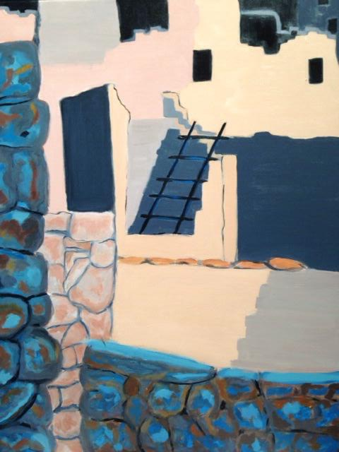 """Mesa Verde"",  22"" x 28"" acrylic on stretched canvas"
