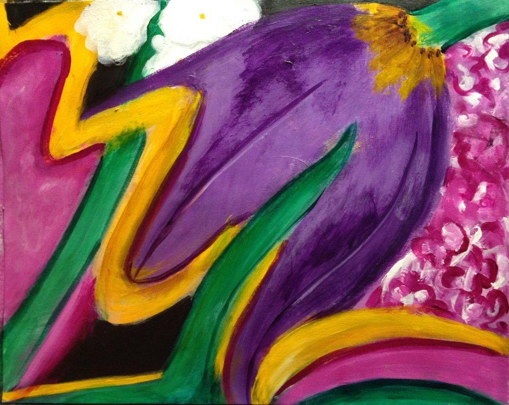 """Tulip time"" 20"" x 16"" acrylic on canvas"