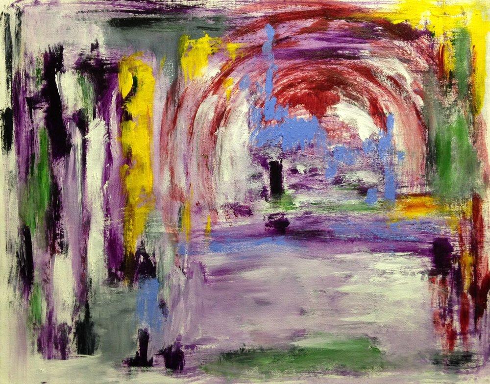 """Untitled (arch)"". 20"" x 16"" acrylic on canvas"