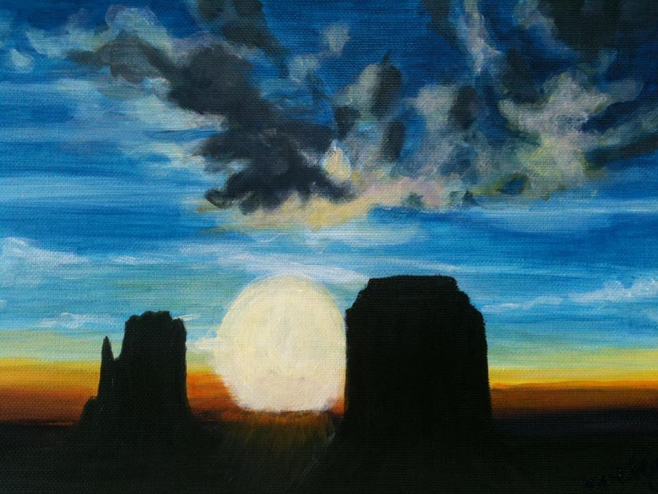 """Sunrise Monument Valley"" sold"