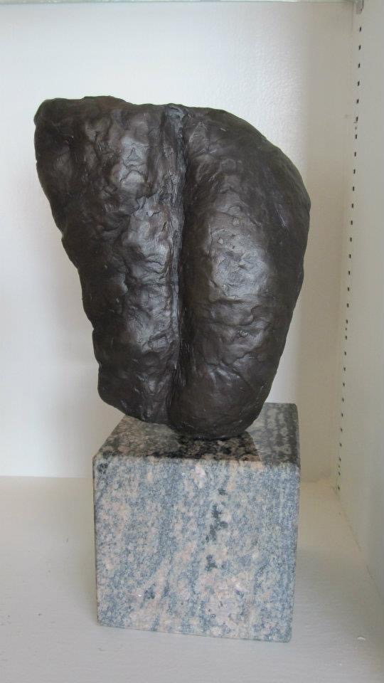 """Untitled (back)"" 6"" x 12"" bronze on granite base"