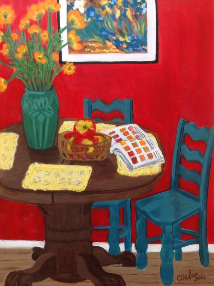 """""""The artist's kitchen; homage to van Gogh"""" sold"""