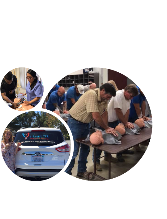 Group Training - You asked, we listened and made it happen. We will come to your facility or business. We bring all our life saving equipment to you and train in the comfort of your own place. We are thankful for the companies that see the importance of training their employees with life savings skills! Please contact us so we can set a date.