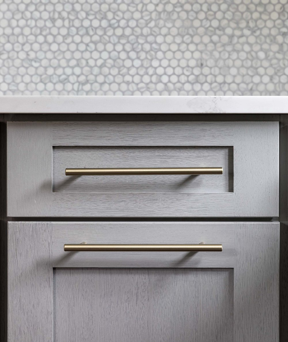 Construction photography of finshed cabinets in a newly finished