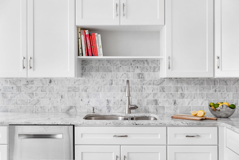 Architectural interiors photography of a kitchen renovation in a