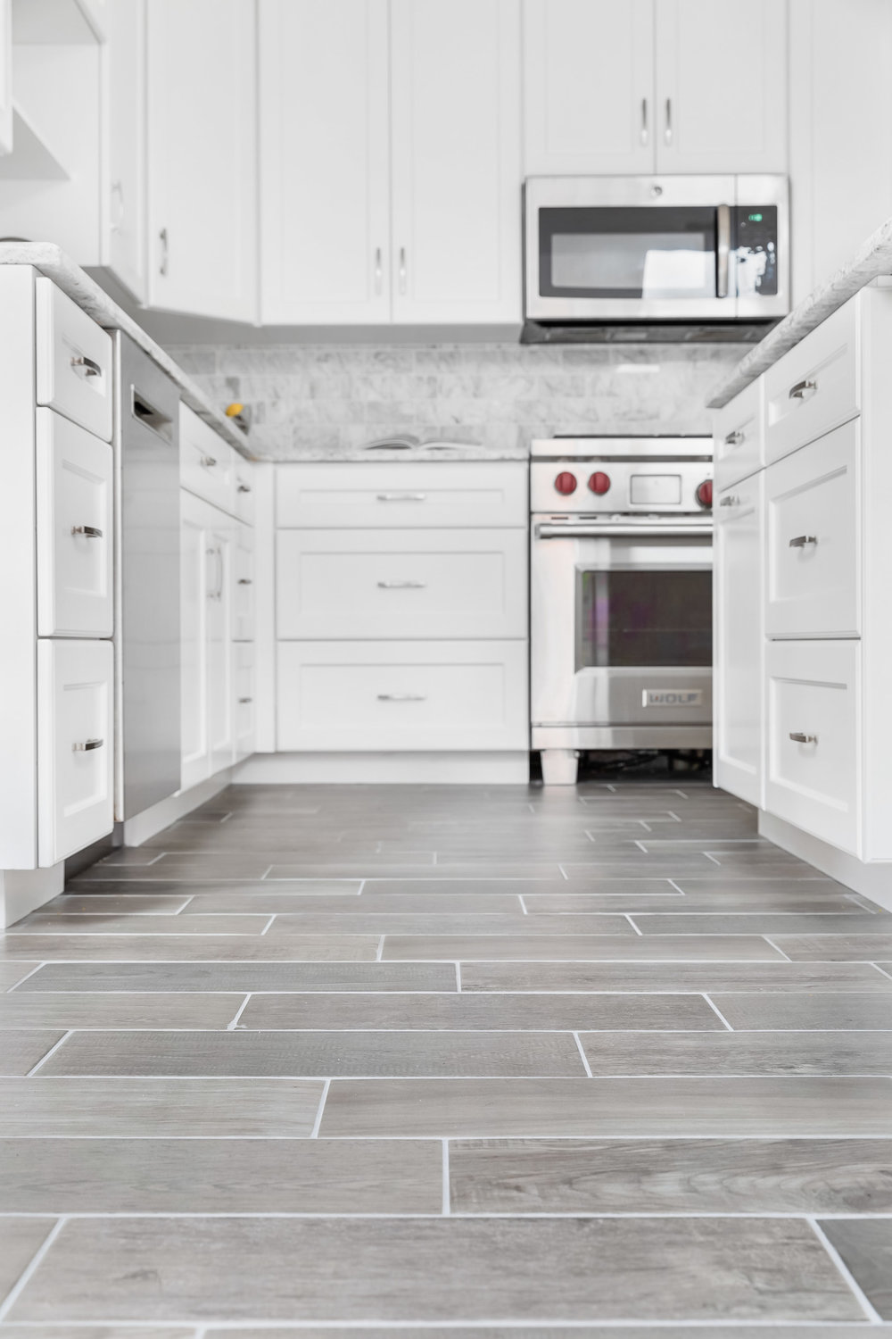 Product photography of a kitchen remodel in a Greenwich, Connect