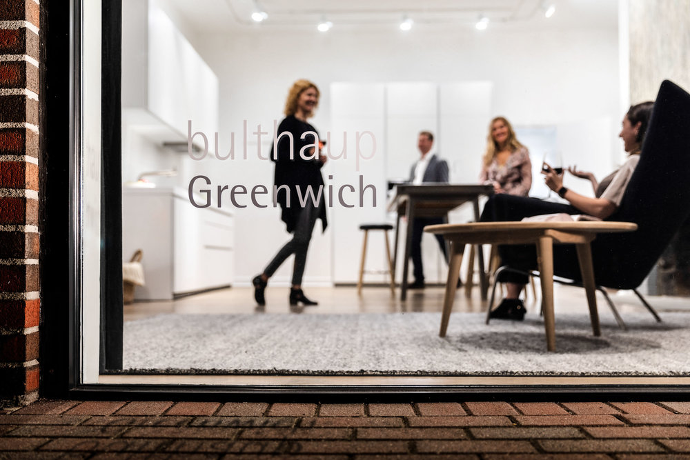 Commercial architectural exteriors photography of bulthaup Greenwich, Connecticut showroom.