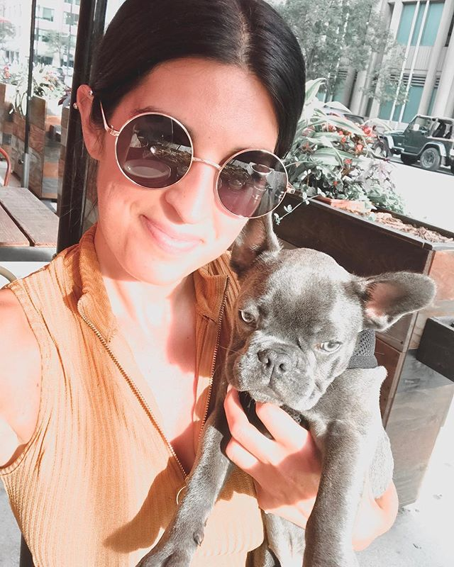 I had the best LDW with @winzstagram . I've never dog sat before and I can't even believe what an amazing experience it was! This little guy brought so much happiness into my life this wknd. I'm so in love with this little nugget ❤️ . . . #frenchie #frenchbulldog #frenchiesofinstagram