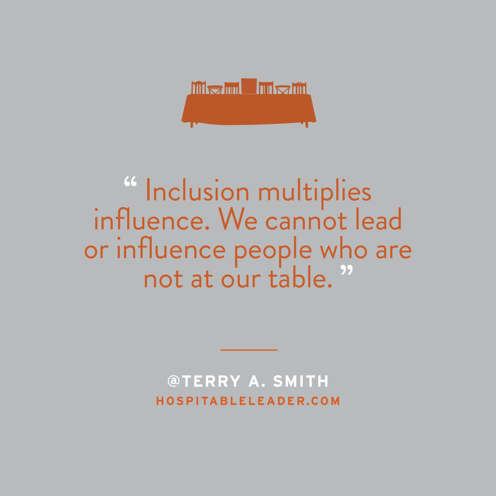 Connection can't happen without influence. And influence will never happen without an invitation. Terry Smith, in his new book The Hospitable Leader, lays out a revolutionary model for leadership modeled by Jesus. Check it out at HospitableLeader.com