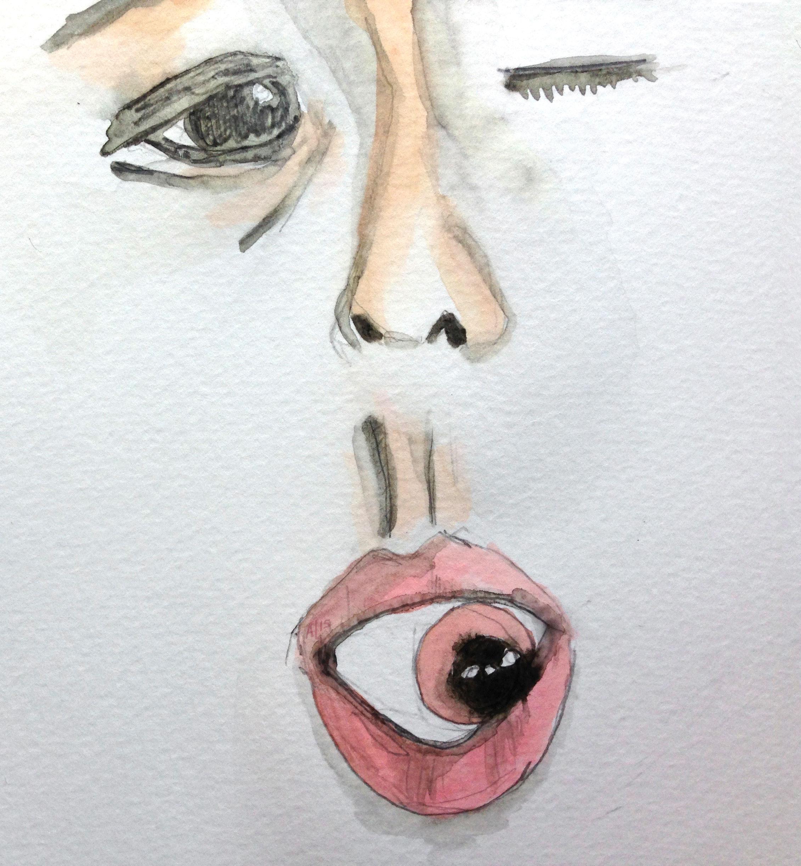 Woman Eye Watercolor Hausu