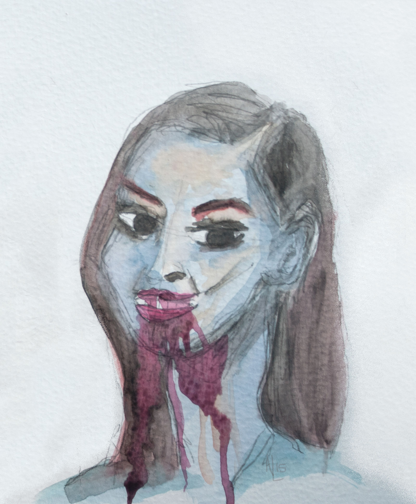 Jennifer's Body Watercolor Illustration