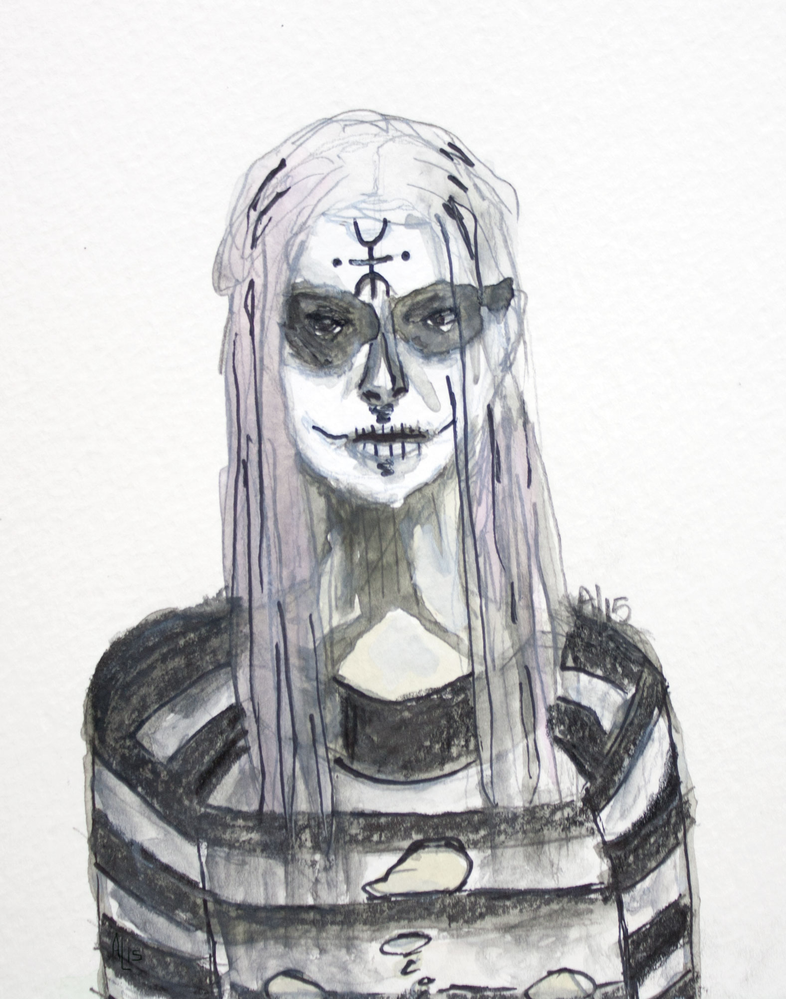 Heidi Hawthorne The Lords of Salem Watercolor Illustration