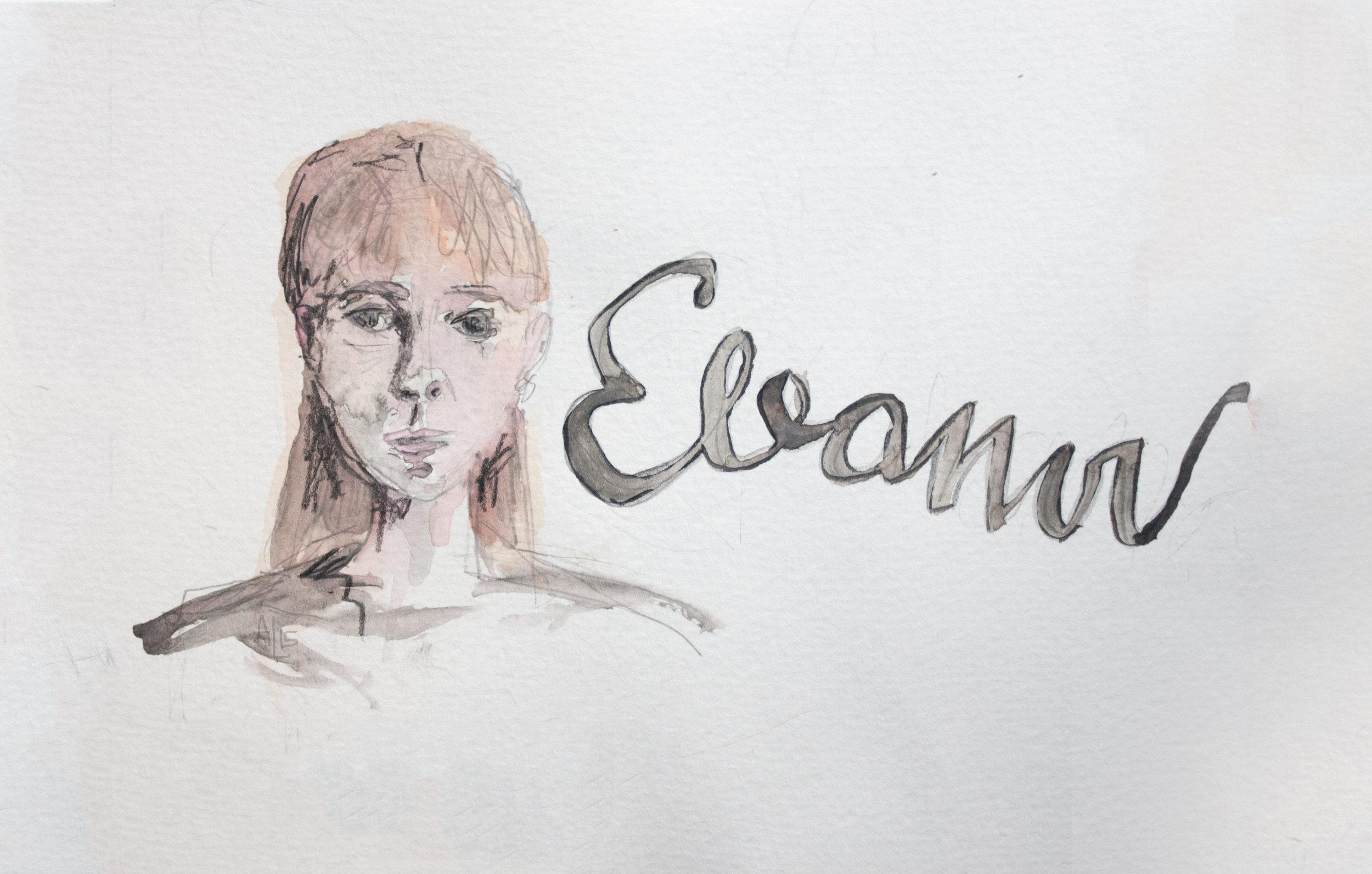 Eleanor The Haunting Watercolor Illustration