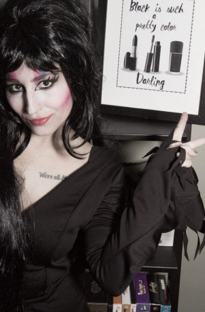 Alex as Elvira, Mistress of the Dark