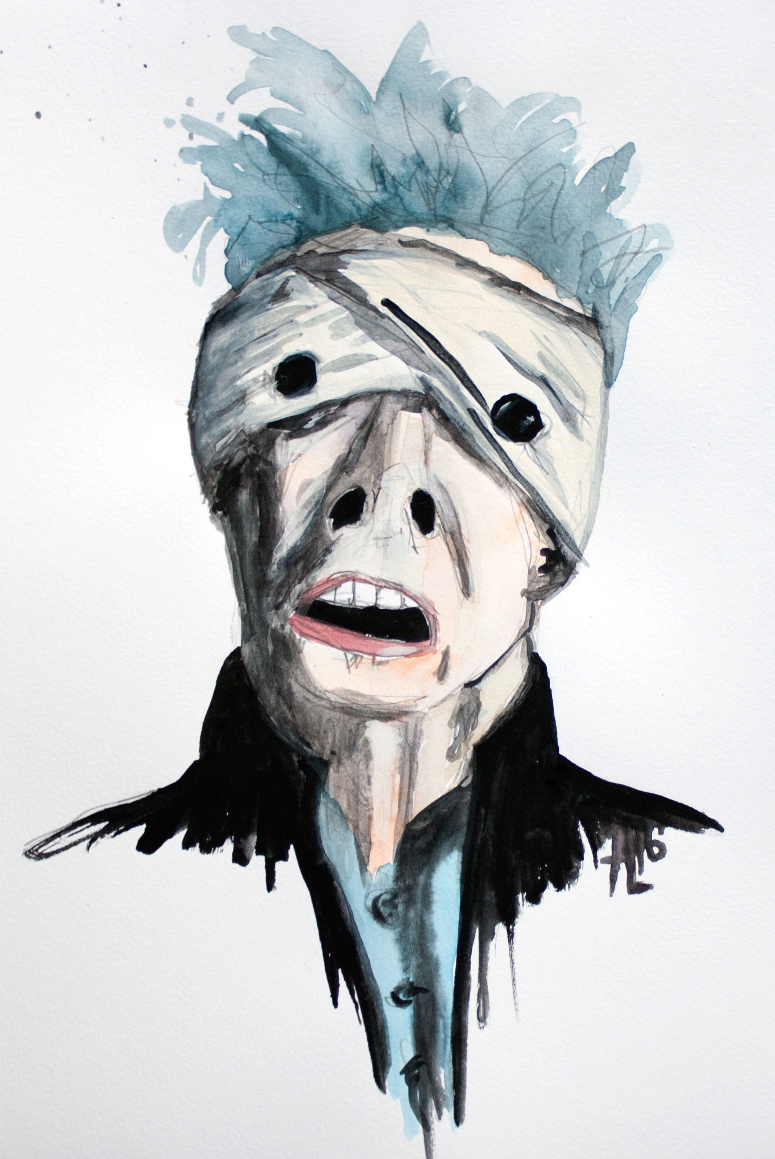 A Reading of David Bowie's Blackstar Music Video: In Memoriam | onecriticalbitch.com | Original illustration by Alex Landers