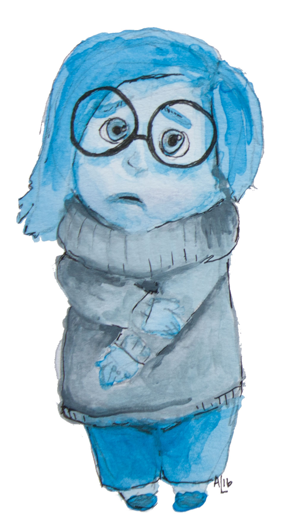 "Sadness in Pixar's ""Inside Out."" 