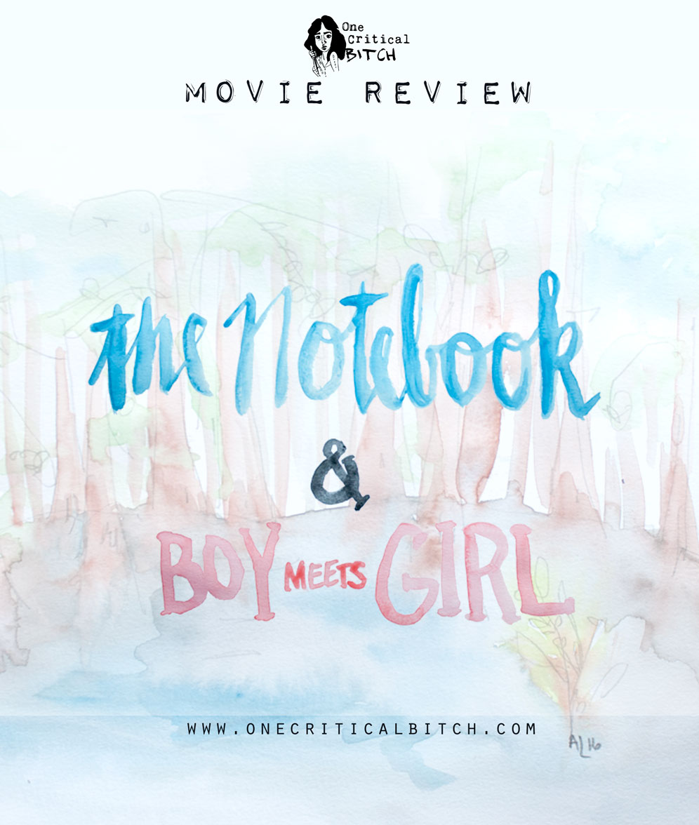 Two romances, each with a classic southern belle - The Notebook and Boy Meets Girl are on the blog |Read the full review at onecriticalbitch.com | #chickflickfebruary
