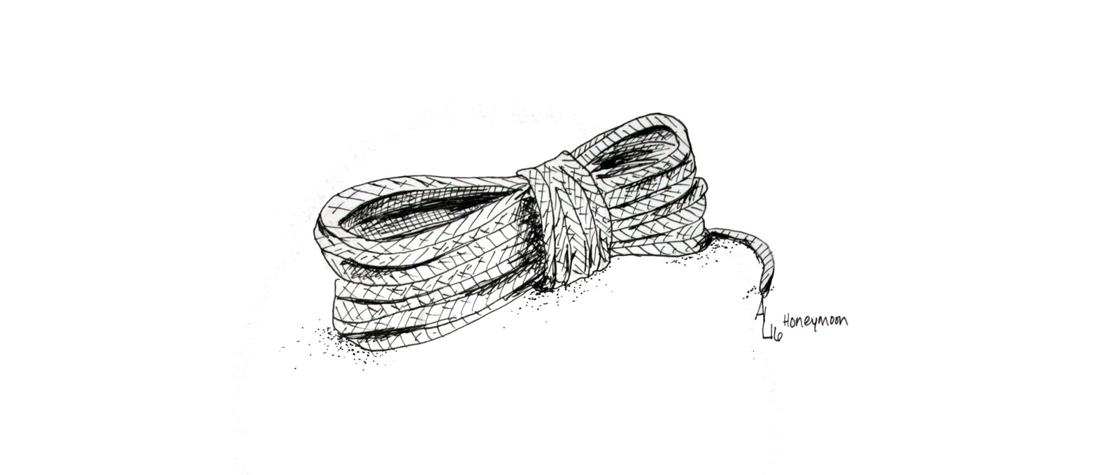 Old Rope | illustration by Alex Landers for Leigh Janiak's HONEYMOON | onecriticalbitch.com