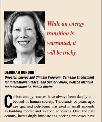 The End of Carbon Fuels? - Deborah Gordon notes her views in The International Economy