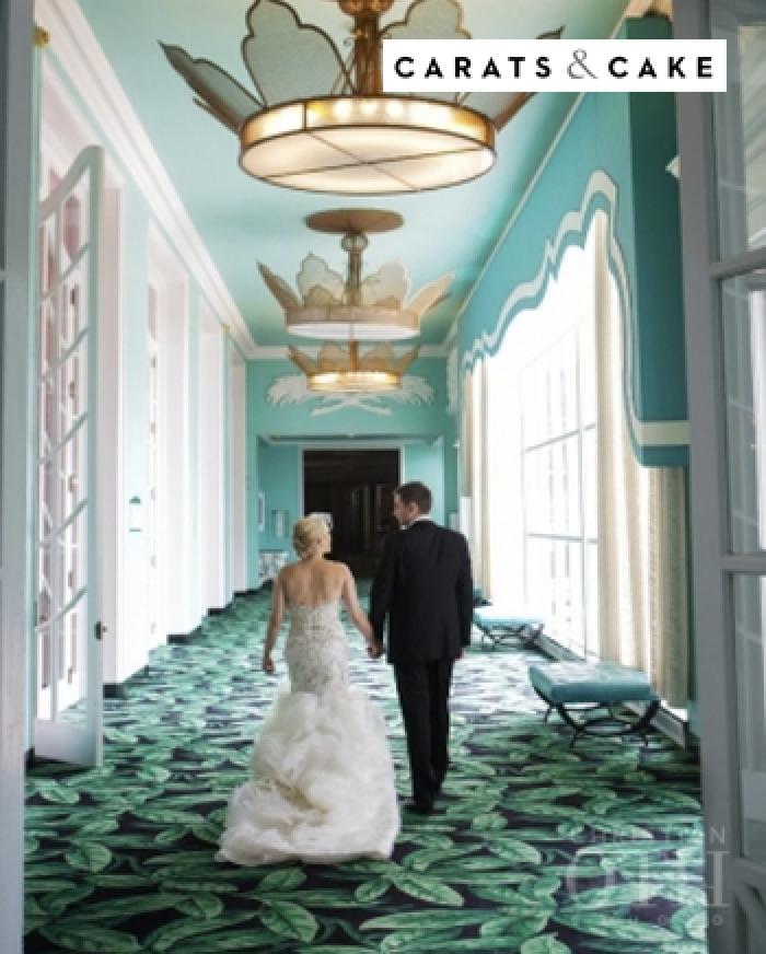 couple on wedding day - Carats & Cake magazine cover