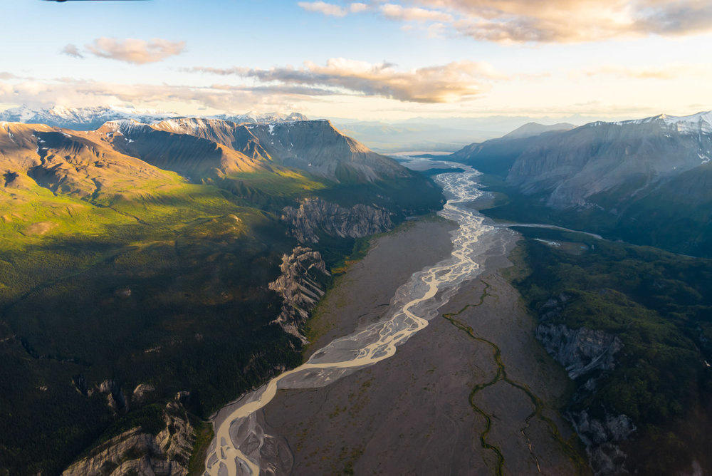 Thirteen Glacier Tour: Nizina Braided River