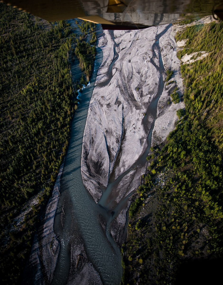 Dropoff Rafting Trips: Braided River From Above, After Pickup