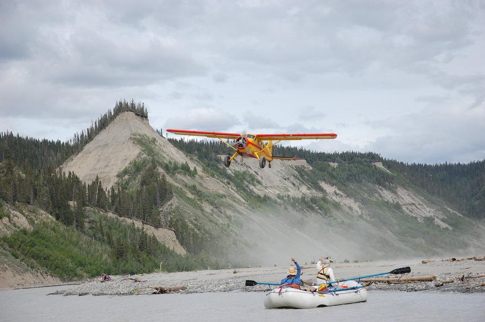 Dropoff Rafting Trips: Incoming Plane
