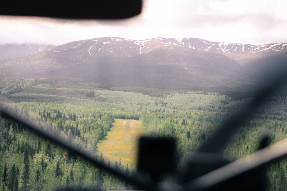 Basecamping Drop-Off:  Final Approach Backcountry Airstrip