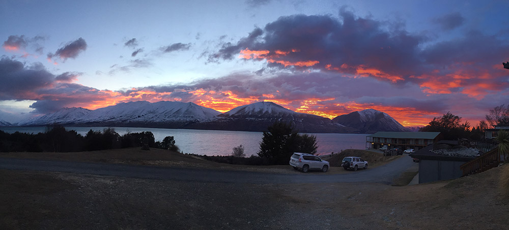 Sunset at the Lake Ohau Lodge:)