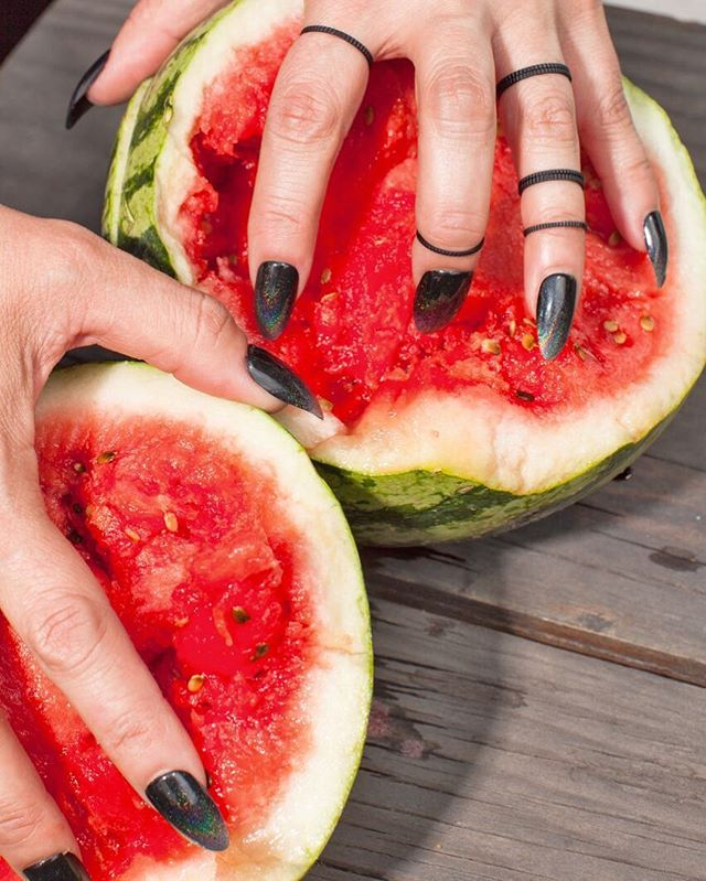 Serious nail art inspo for our NYC #GoodCompanyPodcast panel on Thursday (10/25!) 💅 Did you get your ticket yet? 📸 by @analorenzana of @normalistman for @goodcompanyzine Issue No.2 🍉  #nyc #event #podcast #newyorkcity #artistsoninstagram #bookstagram #nails #nailart