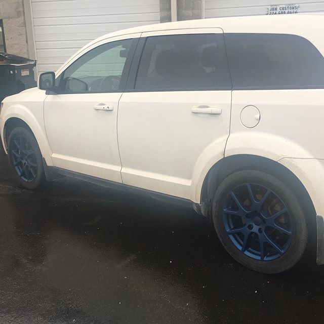 DUDE blue emblems and rims looking sharp