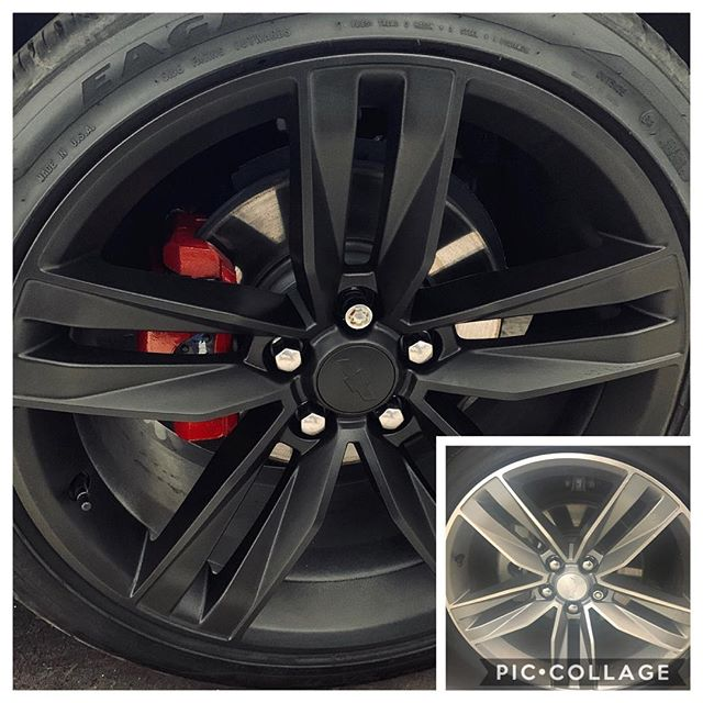 Matte Black rims and Red Calipers for 2017 Camaro