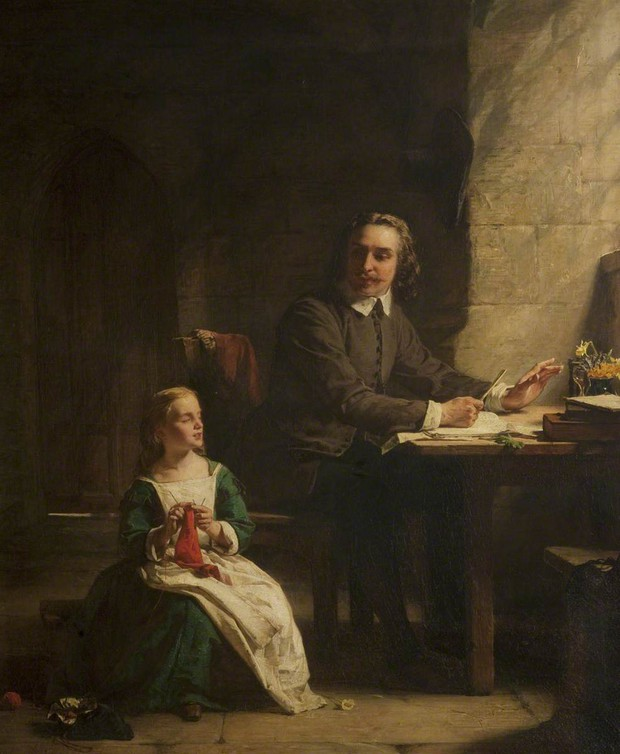 John Bunyan - (1628-1688)In Bedford Jail with His Blind Daughter