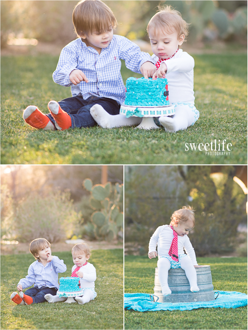 Scottsdale Cake Smash Photographer :: SweetLife Photography