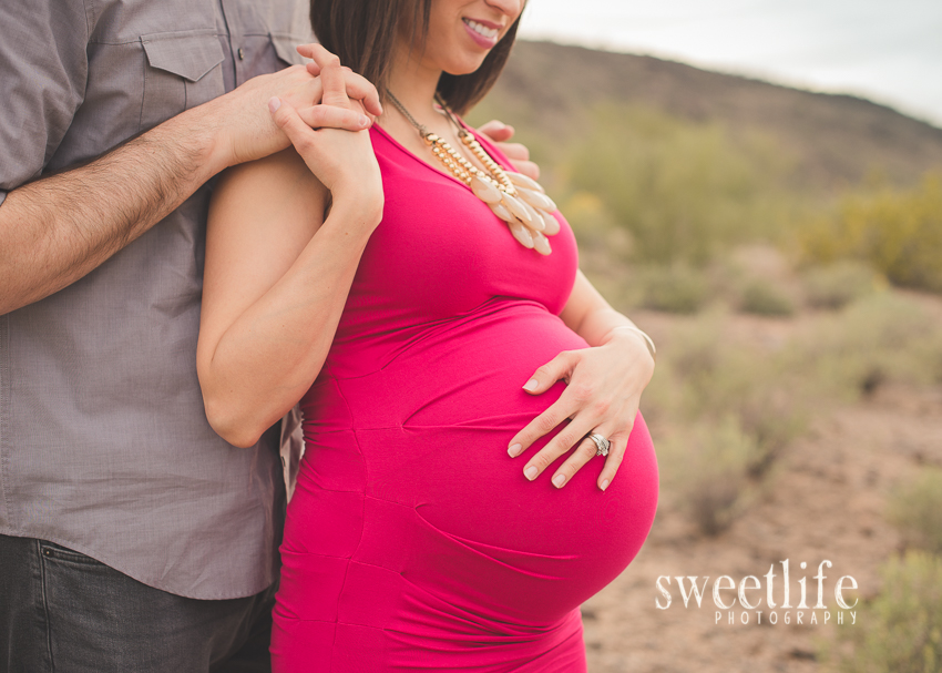 North Phoenix Desert Maternity session -- SweetLife Photography
