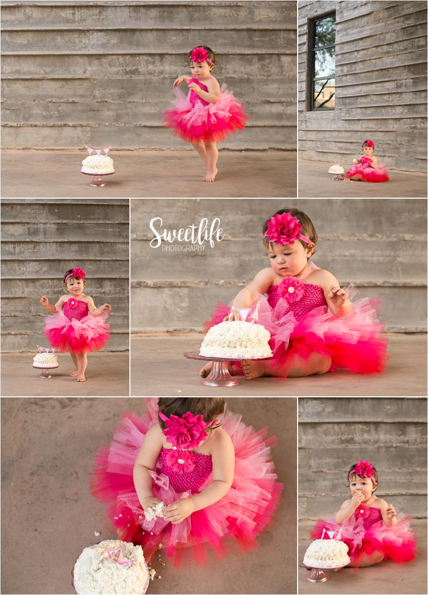Birthday ballerina cake smash session   SweetLife Photography