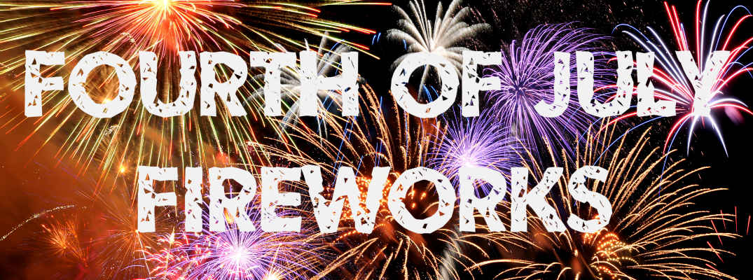 fourth of july fireworks banner