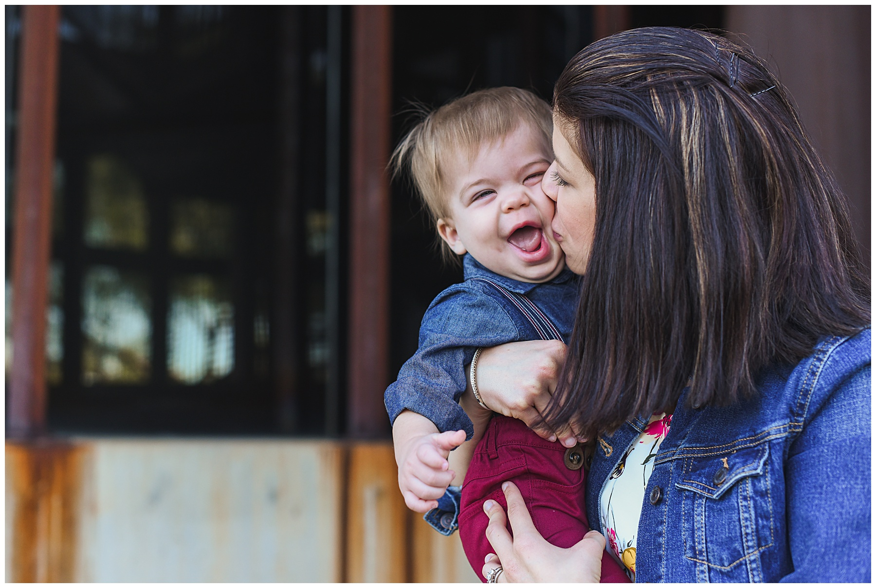 Baby + Mama Smooch Photo | SweetLife Photography