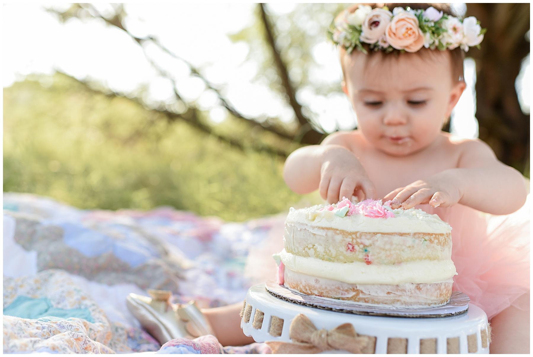 Phoenix Vintage Whimsy Cake Smash Photographer | SweetLife Photography