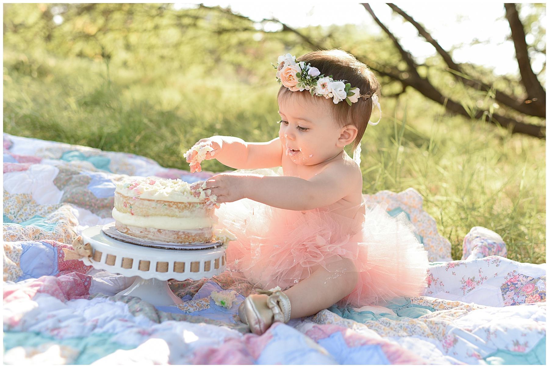 North Phoenix Cake Smash Photo | SweetLife Photography