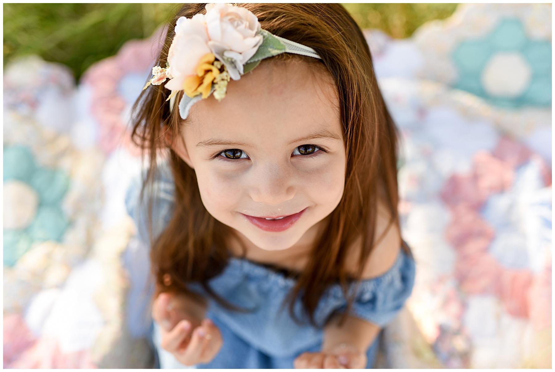 Darling brown eyed girl Phoenix photographer | SweetLife Photography