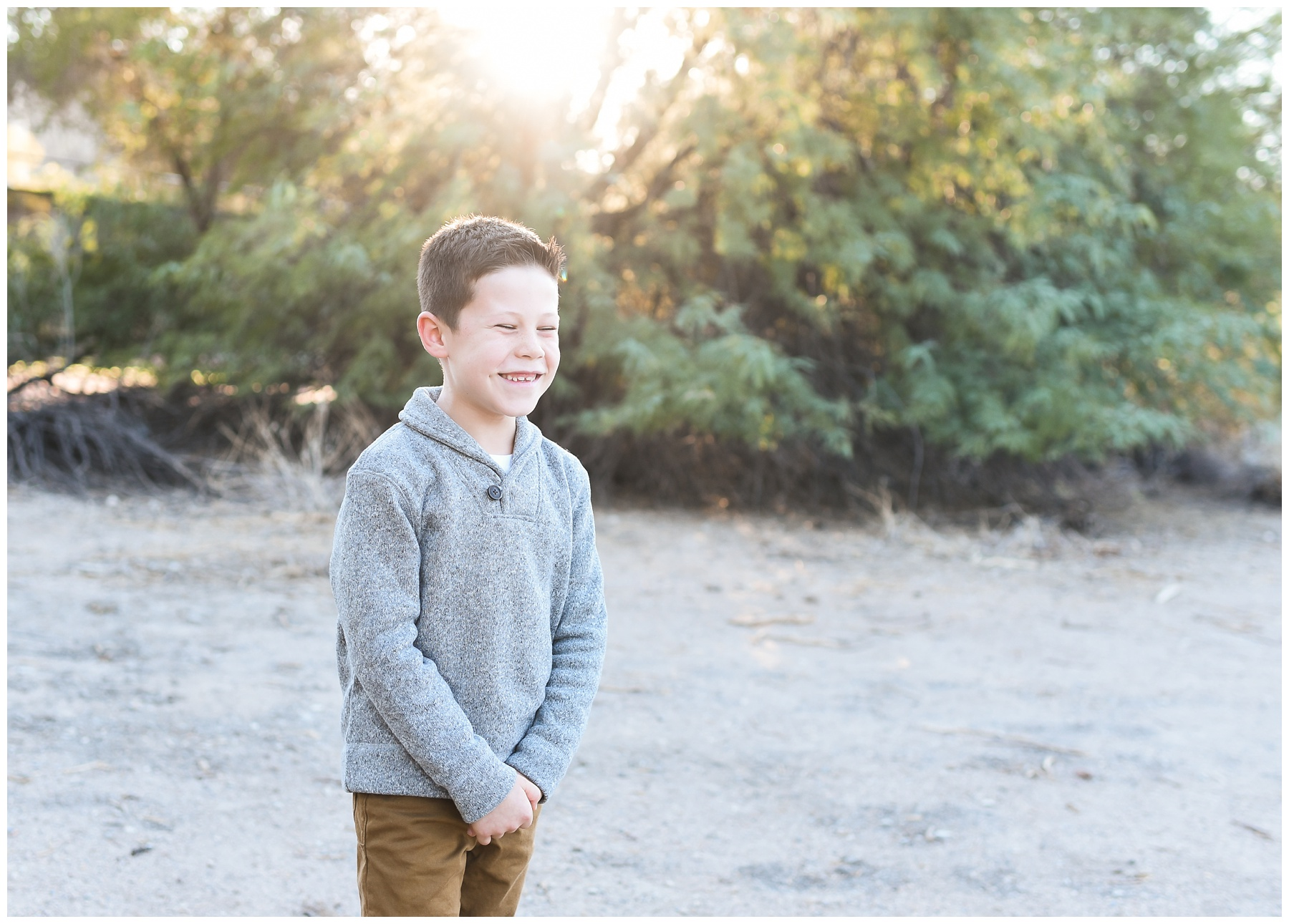 Big brother cheesy smile | Phoenix Lifestyle Family Portraits