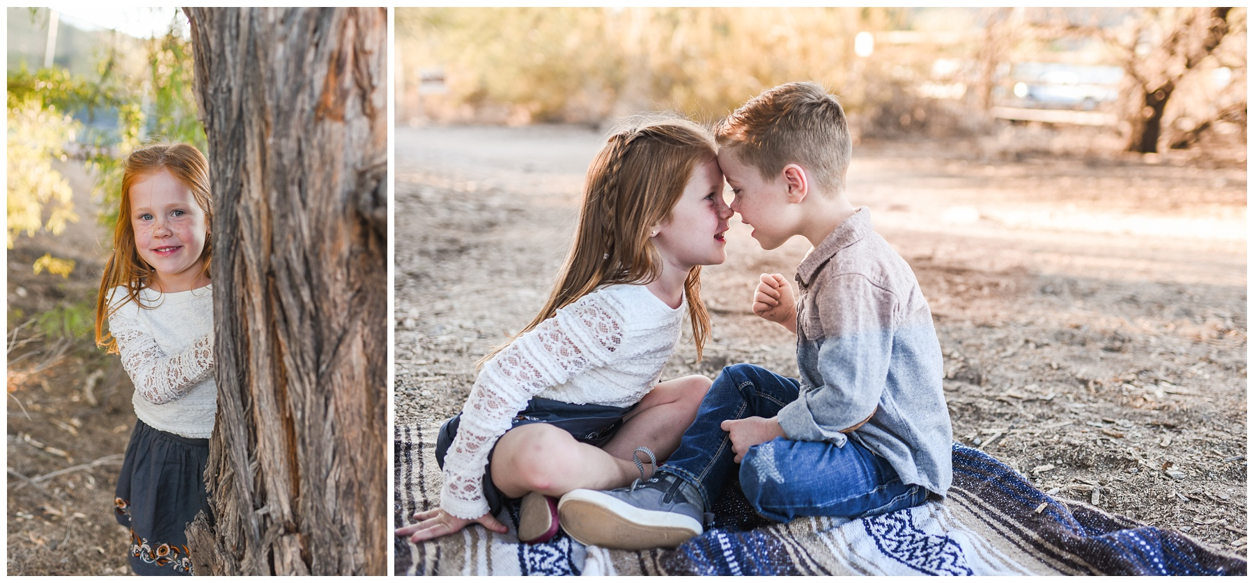 Twins touching noses | Phoenix Lifestyle Family Portraits