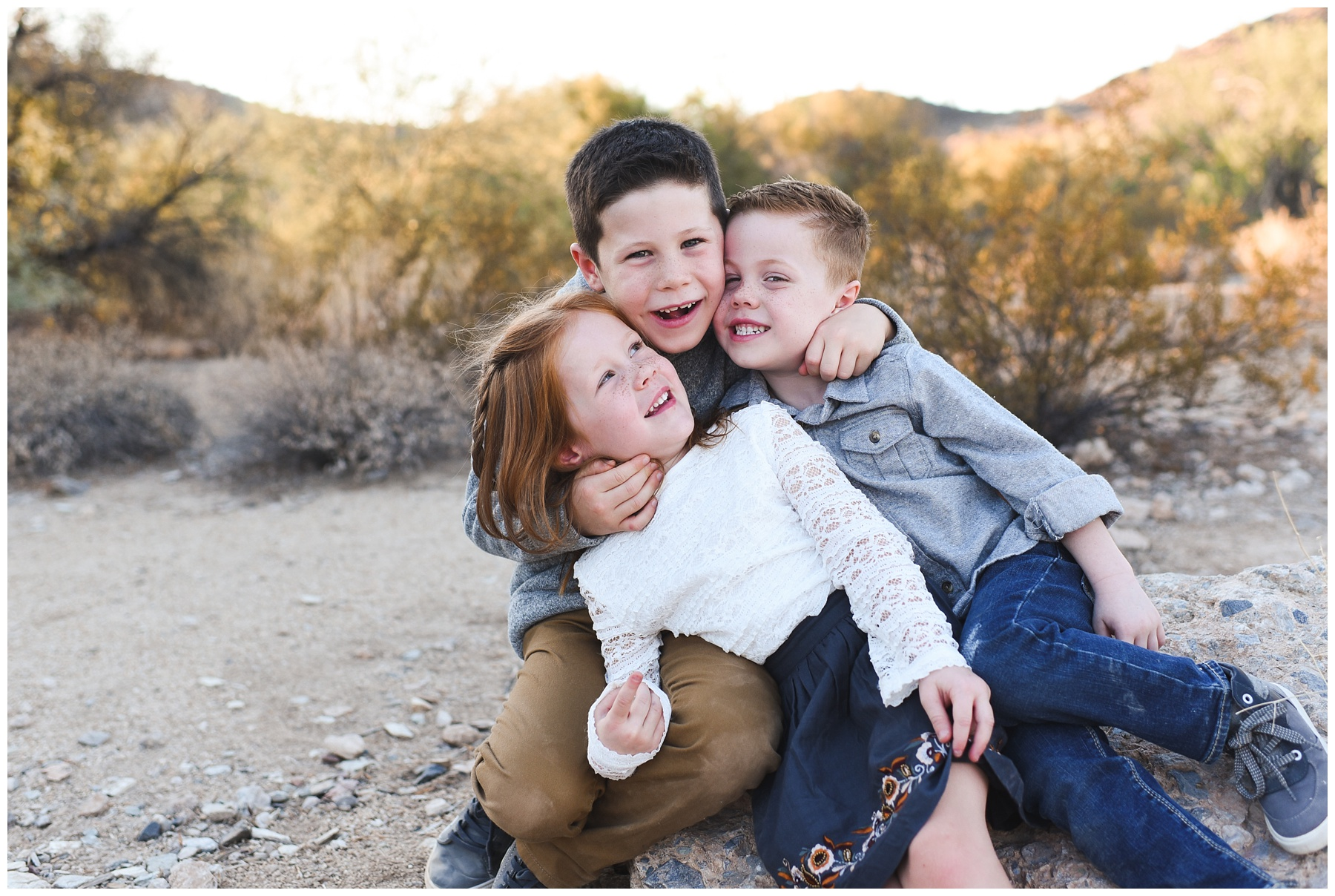 Two brothers and a sister | Phoenix Lifestyle Family Portraits