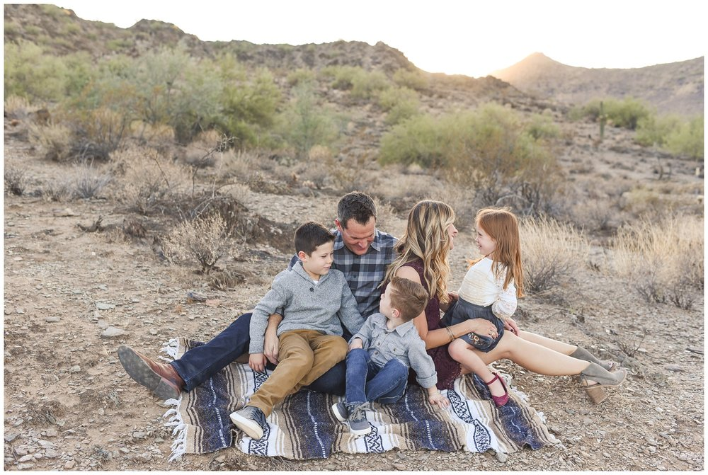 Family connection on a blanket | Phoenix Lifestyle Family Portraits