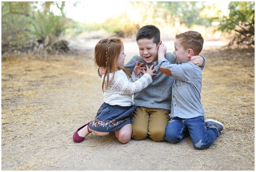 Sibling tickle | Phoenix Lifestyle Family portraits