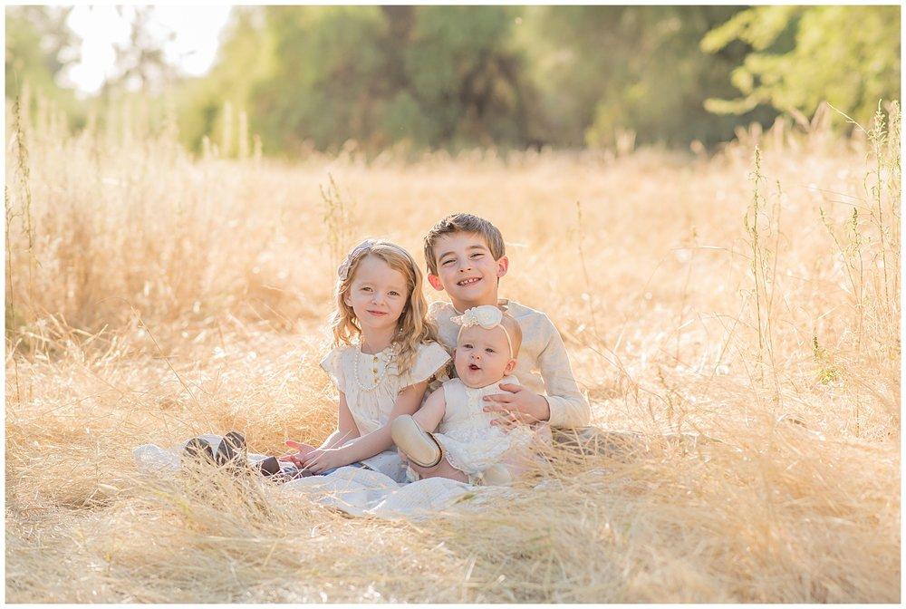 golden hour child portrait session