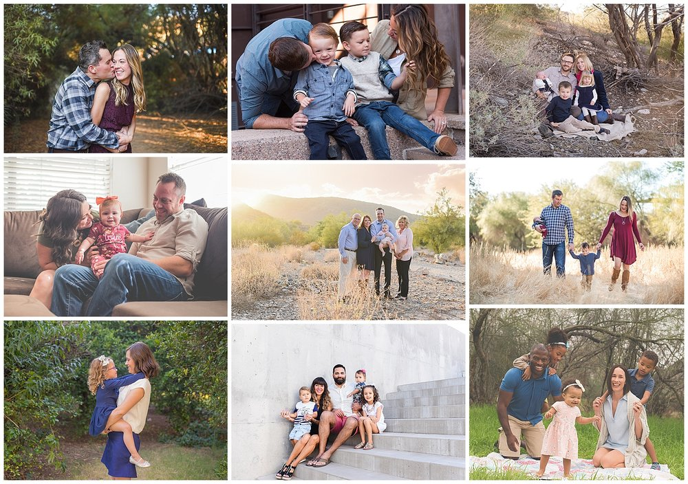 Why Location Doesn't Matter Family Photo Collage | Phoenix Family Photographer {SweetLife Photography}